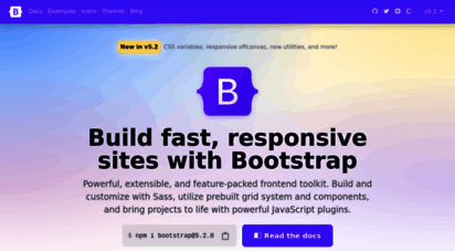getbootstrap.com - bootstrap · the most popular html, css, and js library in the world.