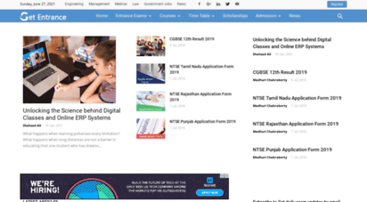 getentrance.com - get details on admissions and entrance exams in india  getentrance