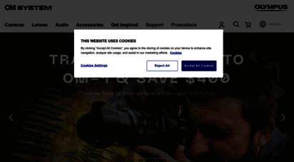 getolympus.com - homepage  olympus