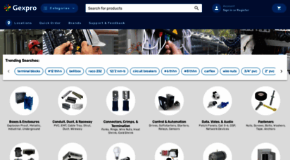 gexpro.com - gexpro - electrical supplies. powerful service.