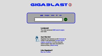 gigablast.com - gigablast - an alternative web search engine