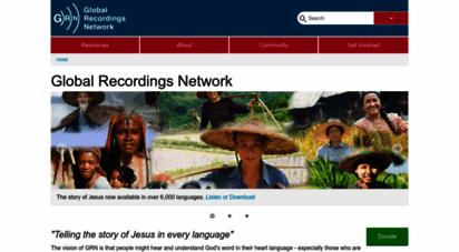 globalrecordings.net - global recordings network - home