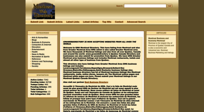 gmawebdirectory.com - montreal directory quebec canada directroy and greater montreal area montreal business listings and yellow pages