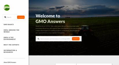 gmoanswers.com - home  gmo answers