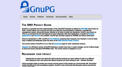 gnupg.org - the gnu privacy guard