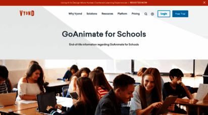Welcome to Goanimate4schools com - GoAnimate for Schools End-of-Life