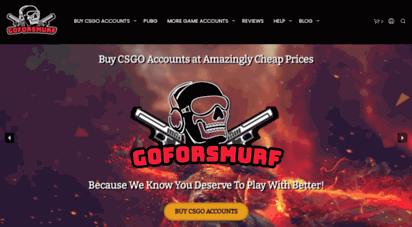 goforsmurf.com - buy csgo accounts  cheap csgo smurf & prime ranked account