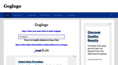 goglogo.net - goglogo - google logo - google gravity space