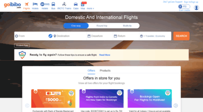 goibibo.com - goibibo - best travel website. book hotels, flights, trains, bus and cabs with upto 50 off