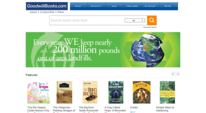 goodwillbooks.com - goodwill books - used text books,used books,out-of-print books.