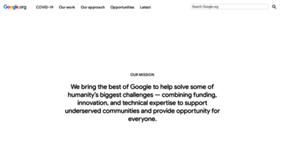 similar web sites like google.org