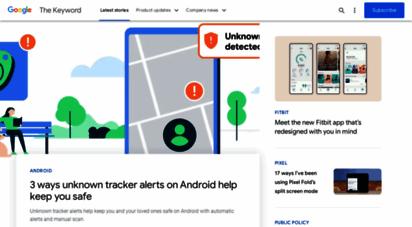 googleblog.com - the keyword  google