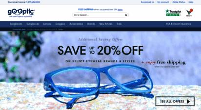 gooptic.com - discount designer eyewear: eyeglsss, sunglsss, glsss, contact lenses