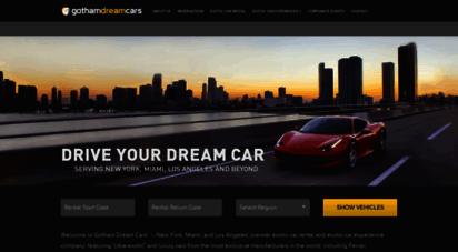 gothamdreamcars.com - gotham dream cars - ultra exotic car rental & luxury car rental