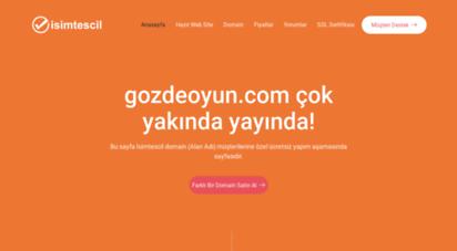 gozdeoyun.com - gozdeoyun.com  ücretsiz yapım aşamasında sayfası
