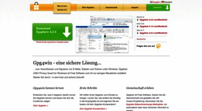 gpg4win.de - gpg4win - sichere e-mail- und datei-verschlüsselung mit gnupg für windows