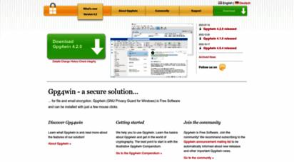 similar web sites like gpg4win.org