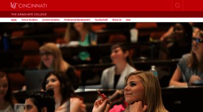 grad.uc.edu - graduate school, university of cincinnati