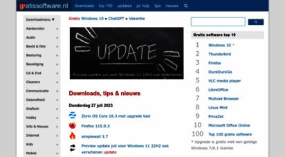 gratissoftwaresite.nl - gratis software  download nu gratis nederlandse freeware