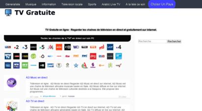 gratuite-tv.com - tv gratuite en direct  regarder la télévision en ligne