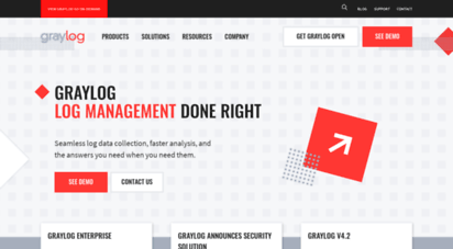Welcome to Graylog com - Graylog | Enterprise Log Management