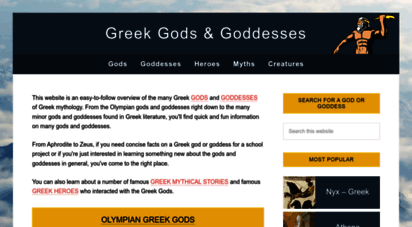 greekgodsandgoddesses.net - greek gods and goddesses • facts and information