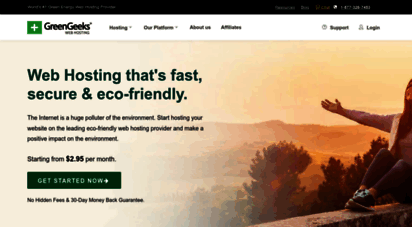 greengeeks.com - web hosting - faster, scalable & eco-friendly - greengeeks