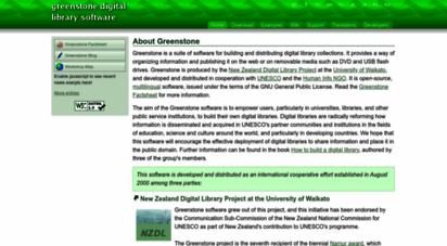greenstone.org - welcome :: greenstone digital library software