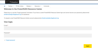 Welcome to Groups collegeboard org - PowerFAIDS Resource Center