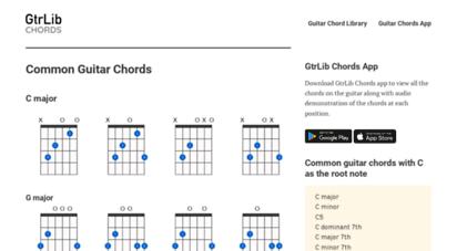 gtrlib.com - gtrlib - guitar chord library app for ios, android and web