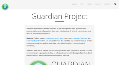guardianproject.info - the guardian project