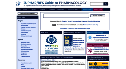 guidetopharmacology.org - home  iuphar/bps guide to phrmacology