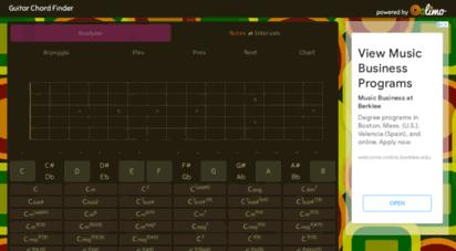 guitar-chord-finder.com - guitar chord finder & chord namer