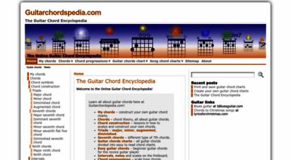 guitarchordspedia.com - guitar chords encyclopedia - charts, progressions, lessons