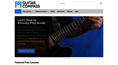 guitarcompass.com - learn how to actually play guitar with 100 free lessons