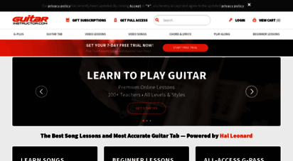 guitarinstructor.com - guitar tabs, online guitar video lessons, songs, scales, chords, jam tracks, and more! - guitar instructor