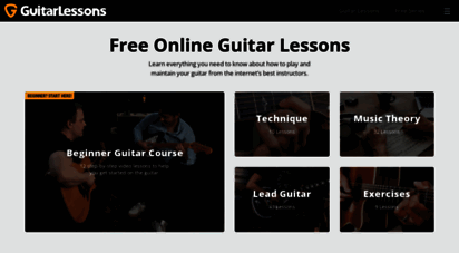 guitarlessons.com - guitar lessons  learn guitar from free online video lessons