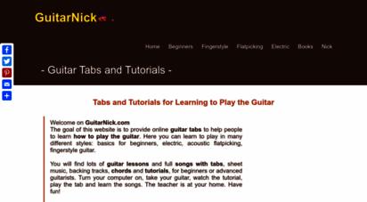 guitarnick.com - guitarnick.com: guitar tabs and tutorials