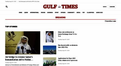 gulf-times.com - gulf times- qatarق€™s top-selling english daily newspaper - homepage