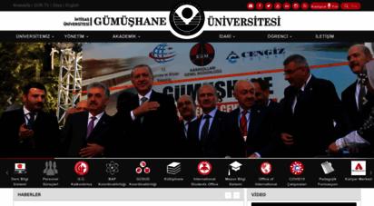gumushane.edu.tr - gümüşhane üniversitesi - anasayfa