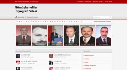 gumushaneliler.net - kimdir ? gümüşhane biyografi sitesi