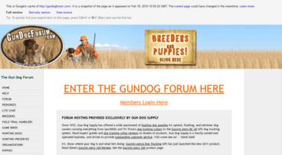 gun dog forum