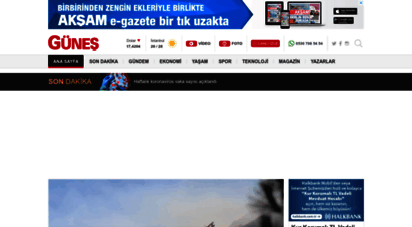 gunes.com - son dakika haberler - en son gazete haberleri  güneş
