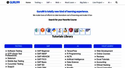 guru99.com - meet guru99 - free training tutorials & video for it courses