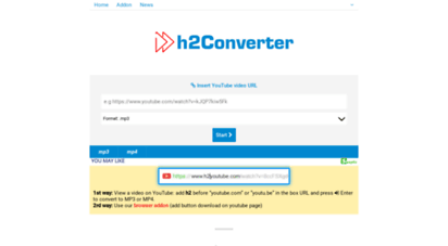 h2converter.com - youtube to mp3 converter - h2converter.net