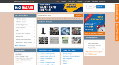 h2obazaar.com - water directory - suppliers and manufactures of water treatment -suppliers and manufactures of waste water treatment