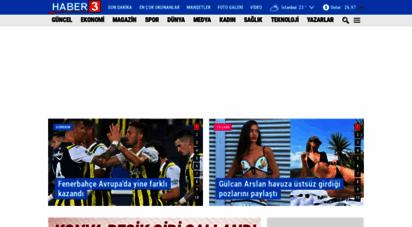 haber3.com - haber 3 - haber3com 2001´den bu yana türkiye´nin haber sitesi...