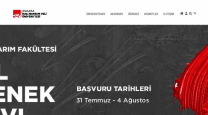 hacibayram.edu.tr -
