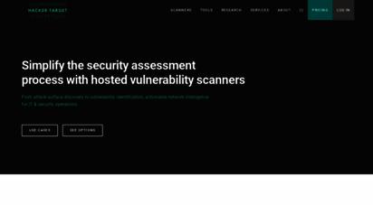 hackertarget.com - 28 online vulnerability scanners & network tools  hackertarget.com