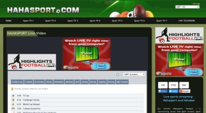 hahasports.co - hahasport  a sports streaming blog - hahasport.com  hahabar